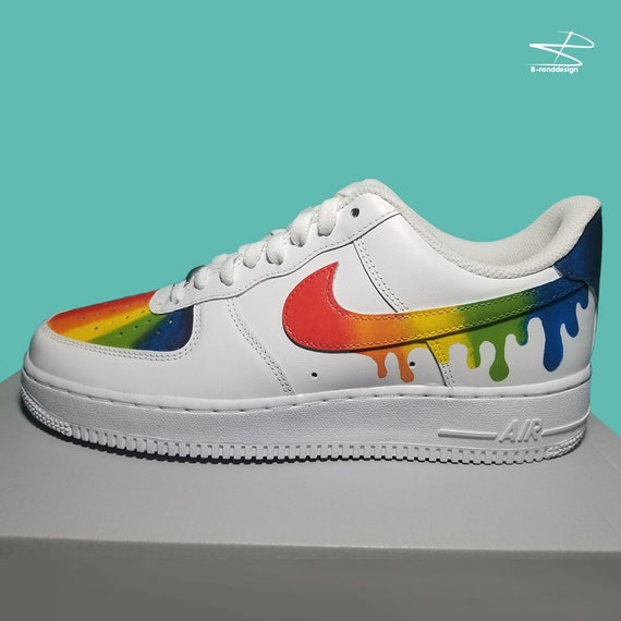 Custom Nike Air Force 1 Rainbow Design