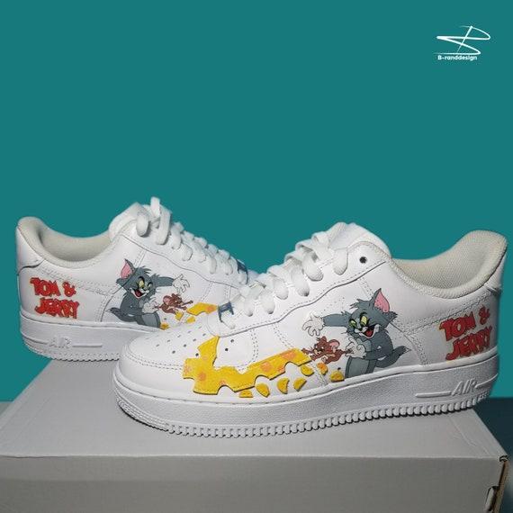 Custom Nike Air Force Tom and Jerry