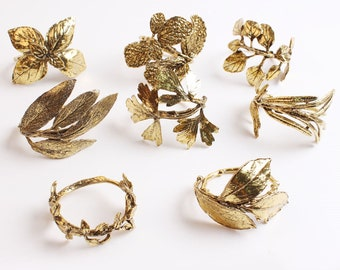 Classic Herb Napkin Rings Set of 8 For All Occasions Thanksgiving Napkin Ring Leaf Napkin Holder Ring - Ideas Mother's Day Gift