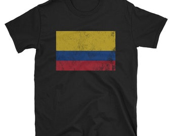 700b02259c8 Vintage Retro Colombia Flag T-Shirt Gifts