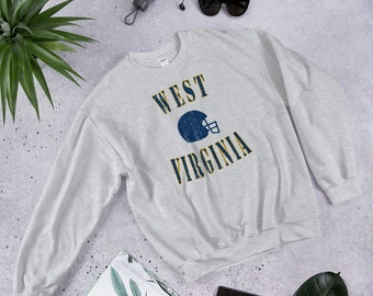 54f09f965 Vintage West Virginia Football Fan College Crewneck Sweatshirt Gift for Men  or Women