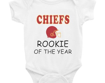 5265101db Chiefs Rookie Of The Year Baby Bodysuit ,Kansas City Baby Shower ,Gift for Kansas  City Baby ,Missouri Football Gift Infant Bodysuit