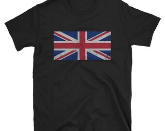 dd775b34 Vintage Retro United Kingdom Union Jack British Flag T-Shirt Gifts