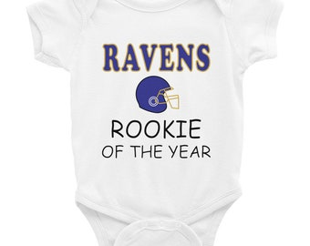 64b599e23 Ravens Rookie Of The Year Baby Bodysuit ,Baltimore Baby Shower ,Gift for  Maryland Baby ,Maryland Football Gift Infant Bodysuit