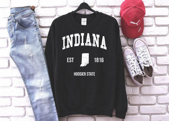 Indiana Sweatshirt, Indiana Crewneck Sweatshirt ,Indiana Sweater ,Indiana Vintage sweatshirt ,Gift for Men or Women