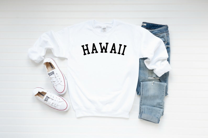 Hawaii Gift Ideas for the Holidays featured by top Hawaii blog, Hawaii Travel with Kids: Hawaii Sweatshirt Hawaii Crewneck Sweatshirt Hawaii Sweater image 0