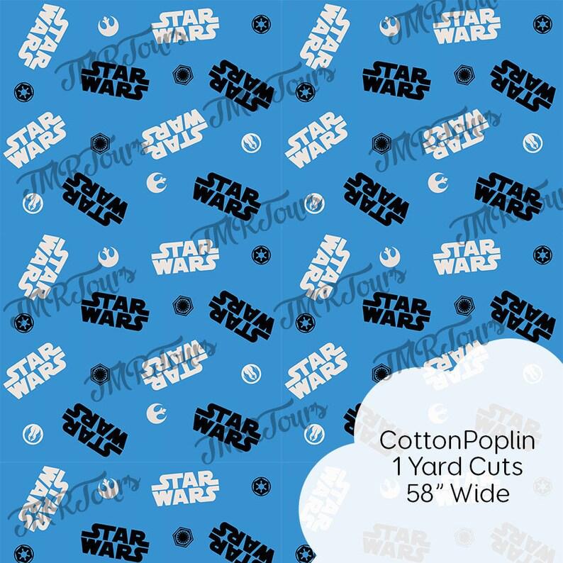 Empire and Rebel Alliance Star War Fabric Medium Scale Custom Print Fabric 1 YD IN STOCK!