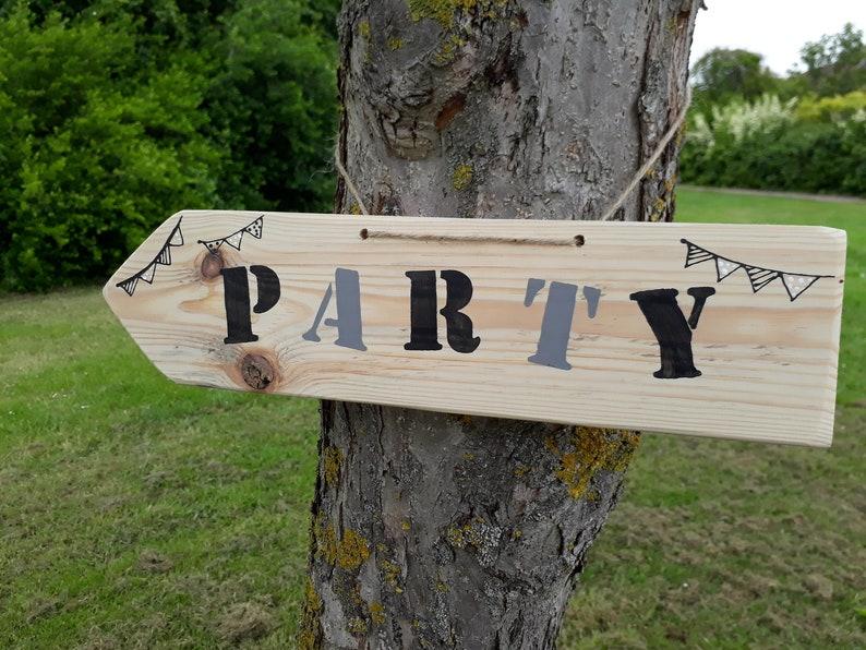 Large Personalised rustic wood wedding way sign signpost wedding venue decoration