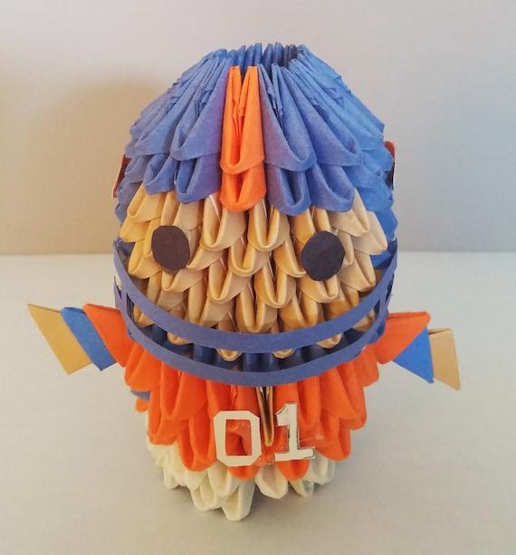 Origami Fussball Trikot basteln mit Papier. Hemd / Shirt falten ... | 614x570