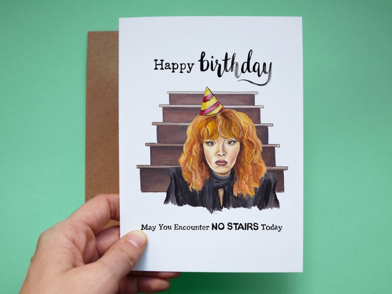 Russian Doll Netflix Birthday Card Funny Hand Painted