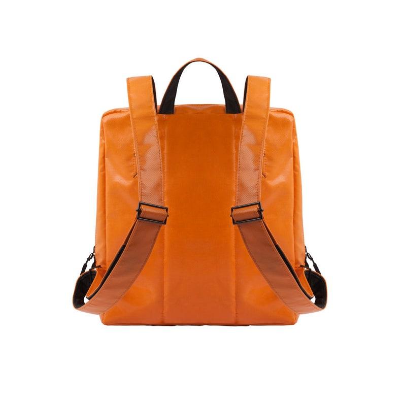Vegan backpack  Laptop bag  Rucksack  Water-repellent bag  Office bag  Recycled bag Sustainable orange eco backpack from Amsterdam