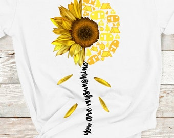 4d5babcd8493c You are My Sunshine Camping Shirt, Camping Sunflower Shirt, Sunflower Shirt,  Unisex Fit