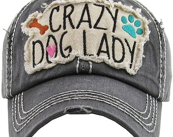 96a77bc74972a Crazy Dog Lady Distressed Hat