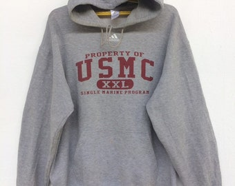 70ae76cb500 USMC Single Marine Program X ADIDAS Sweatshirt Hoodie Pullover Big Logo  Size (XL)
