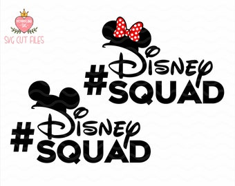Disney Squad SVG / Minnie mouse SVG / Mickey mause SVG / Disneyland / T-shirs Vinyl Decal / Instant download design for cricut or silhouette