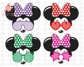 Minnie Mouse Sunglasses SVG / Sunglasses SVG / Minnie Svg / Minnie Mause SVG / Instant download design for cricut or silhouette