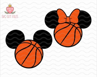mickey basketball etsy rh etsy com Red Mickey Mouse Ears Mickey Mouse Outline