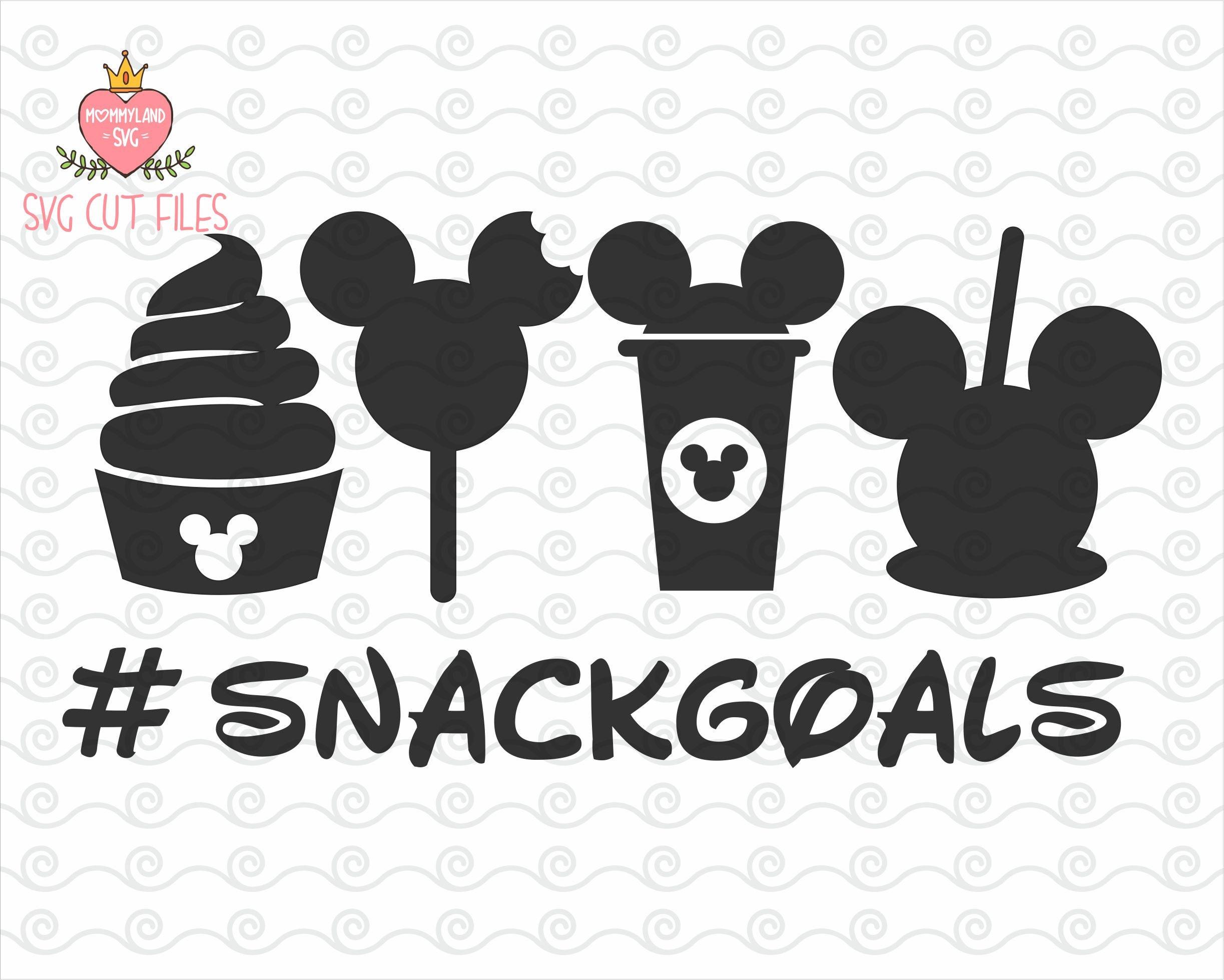 Disney Snack Goals SVG / disney snacks svg / hashtag svg ...