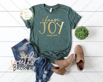 ba58c8705 Christian T Shirts Women / Faith Shirts / Bible Verse Shirt / Christian  Apparel / Plus Size TShirts / XS-4XL / Choose Joy Romans 15:13