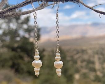 freshwater pearl chain drops