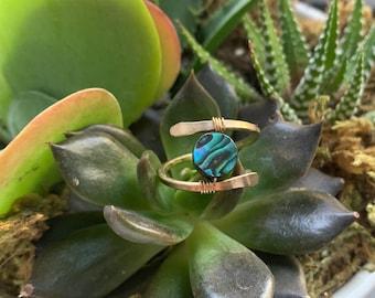 Abalone wrap ring
