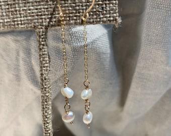 Pearl chain drops