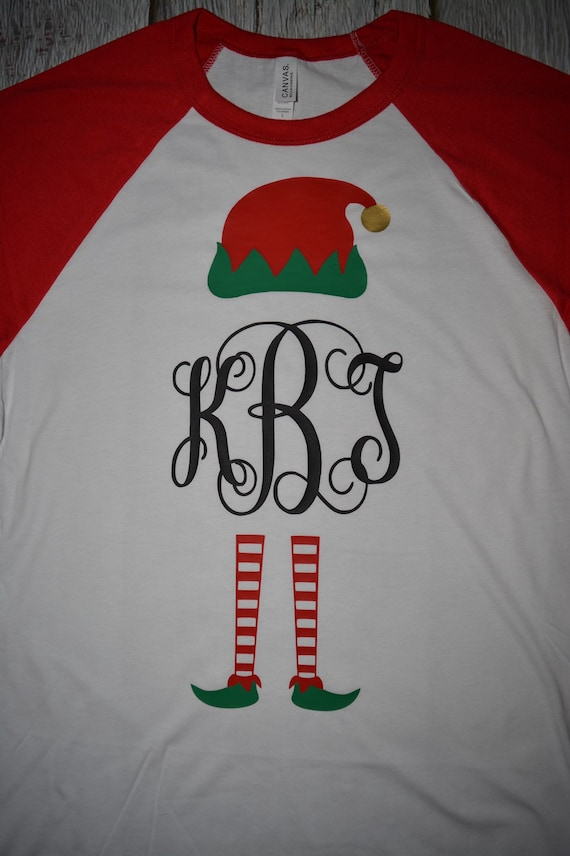 Matching Family Christmas shirts personalized matching tees elf family shirts christmas baseball tees