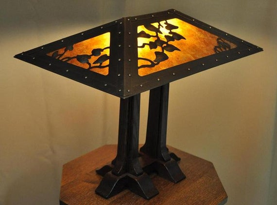 Arts And Crafts Lamp Craftsman Style Table Lamp Limbert Etsy