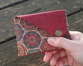 Vegan credit card holder Small wallet women Pocket wallet