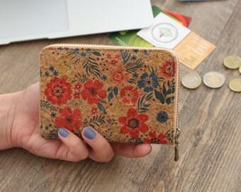 Cute vegan wallet women Cork wallet gift