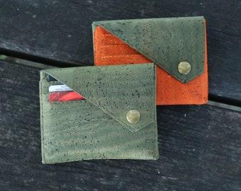 Cork card holder Small wallet women