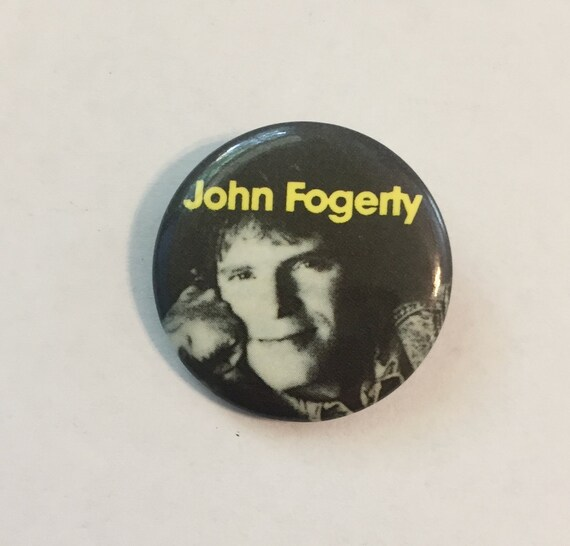 John FOGERTY Pin/Button * Circa 1980s * Vintage *