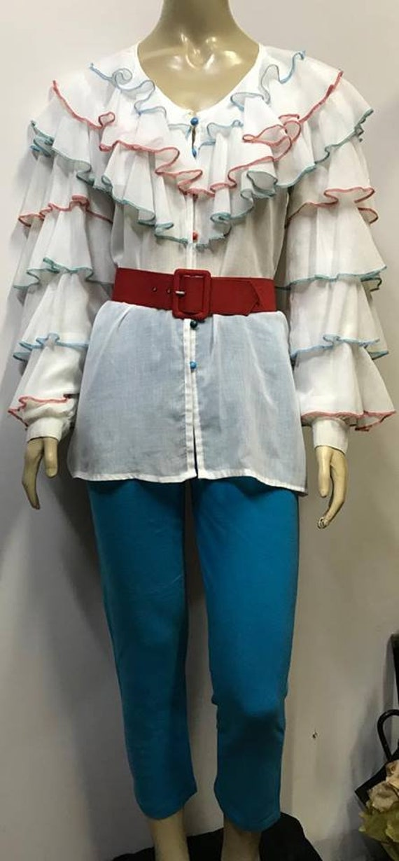 French Vintage Blouse 80s