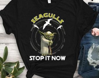 49b9e340 Seagulls Stop It Now Beach T-shirt, Beach Funny Cute Seagull T-Shirt , Star  Seagull Wars TShirt, Unisex T-Shirt