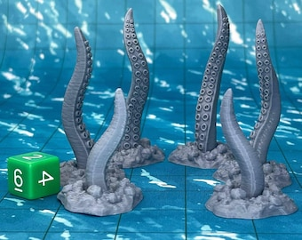 Tentacles (Set of 6) Dungeons and Dragons Scatter Terrain (D&D DnD) 28mm 32mm Wargaming Fantasy RPG Tabletop Games