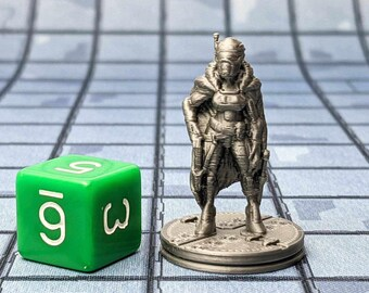 Anai the Bounty Hunter Miniature Cyberpunk Warhammer Starfinder 28mm 32mm Wargaming Sci-Fi RPG Tabletop Games