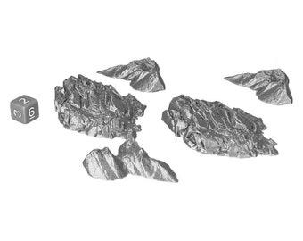 Desert Rock Shards Wargaming Scatter Terrain Warhammer Dungeons and Dragons Objectives