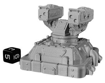 Large Anti Aircraft Turret Warhammer Scatter Terrain Cyberpunk Warhammer Starfinder 28mm 32mm Wargaming Sci-Fi RPG Tabletop Games