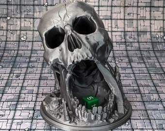 Desert's Kiss Skull Dice Tower Box Tray Dice Cup Roller Dungeons and Dragons (D&D DnD) Wargaming Fantasy RPG Tabletop Games