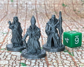 Clergy (Set of 3) Dungeons and Dragons Miniatures (D&D DnD) 28mm 32mm Wargaming Fantasy RPG Tabletop Games