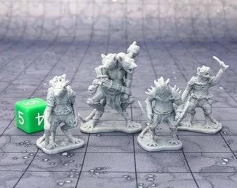 Ratfolk (Set of 4) Dungeons and Dragons Miniatures (D&D DnD) 28mm 32mm Wargaming Fantasy RPG Tabletop Games