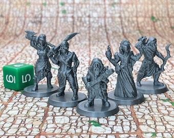 Bandit Gang (Set of 5) Dungeons and Dragons Miniatures (D&D DnD) 28mm 32mm Wargaming Fantasy RPG Tabletop Games