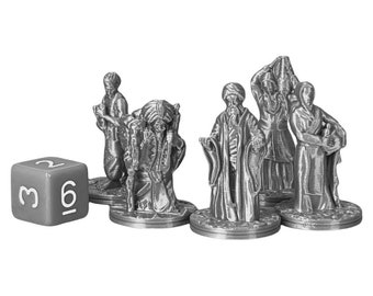 Arabian Villagers Dungeons and Dragons Miniature (D&D DnD) 28mm 32mm Wargaming Fantasy RPG Tabletop Games