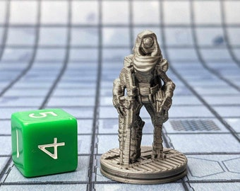 Norbit the Assassin Droid Miniature Cyberpunk Warhammer Starfinder 28mm 32mm Wargaming Sci-Fi RPG Tabletop Games