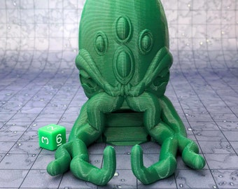 Cthulhu Dice Tower Accessory Box Tray Dungeons and Dragons (D&D DnD) Wargaming Fantasy RPG Tabletop Games