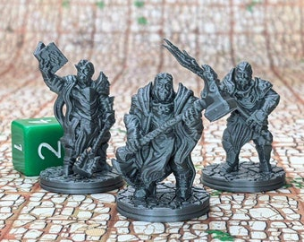 Holy Warriors (Set of 3) Dungeons and Dragons Miniatures (D&D DnD) 28mm 32mm Wargaming Fantasy RPG Tabletop Games