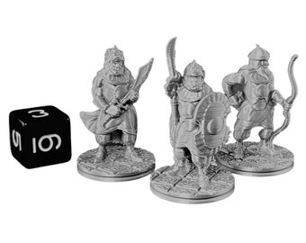 Arabian Guards Dungeons and Dragons Miniature (D&D DnD) 28mm 32mm Wargaming Fantasy RPG Tabletop Games