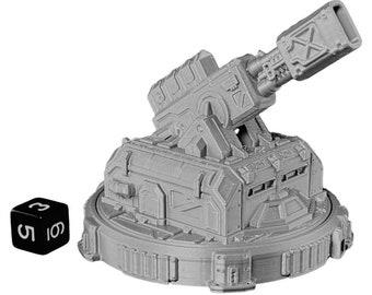 Large Missile Turret Gun Warhammer Scatter Terrain Cyberpunk Warhammer Starfinder 28mm 32mm Wargaming Sci-Fi RPG Tabletop Games