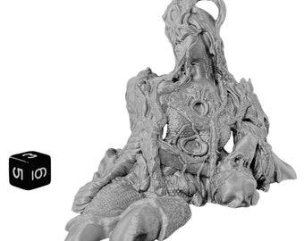 Statue of the Fallen Goddess Statue of the Fallen Goddess Wargaming Scatter Terrain Dungeons and Dragons (D&D