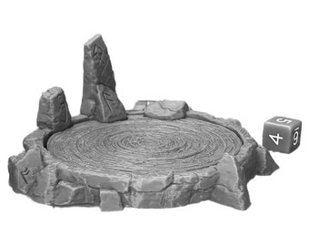 Scrying Pool Dungeons and Dragons Scatter Terrain (D&D DnD) 28mm 32mm Wargaming Fantasy RPG Tabletop Games